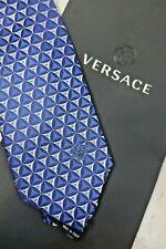 VERSACE Mens 100% Silk Blue Tie - BNWT (NA 120F)