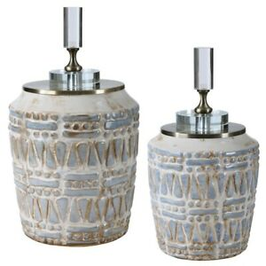 Uttermost Lenape Ceramic Bottles, Set of 2 - 17740