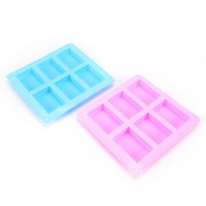 6-Cavity Silikon Rechteck Seife Kuchen Eisform Mold Tray für hausgemachteWLTRSYU