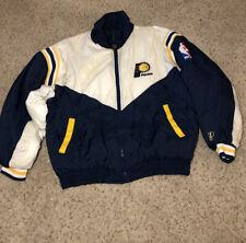 VINTAGE Indiana Pacers Pro Player Full Zip Up Jacket Coat NBA men's Xl