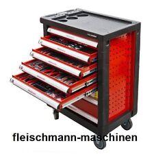 Holzmann Werkstattwagen WW790W befüllt mit hochwertigem Chrom Vanadium Werkzeug
