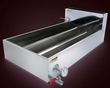 2'x4' Cont Flow Divided Maple Syrup Pan w/Valves, Therm, Preheater, evaporator