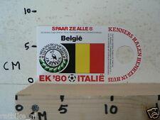 STICKER,DECAL EK 80 ITALIE VOETBAL,SOCCER JH HENKES,BELGIE,BELGIUM