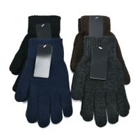 Spring And Autumn Men Women's Five Fingers Gloves Knitted Solid Color Glove SALE