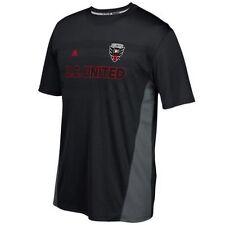 Camisetas de fútbol negras de manga corta para hombres