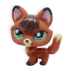 #1921 RARE Littlest Pet Shop Firefox Fox Blue Eyes Dog LPS Animal Toy
