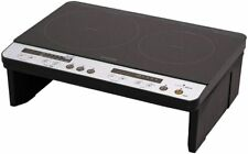 Iris Ohyama IHK-W12SP-B 2 IH Stove Cooking Heater with Leg Black 100V from Japan