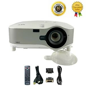 NEC NP2150 3LCD Projector 4200 ANSI Wireless HD 1080i HDMI-adapter w/bundle