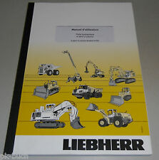 Manual D' Use Liebherr a 904 C-Litronic Skin Hydraulique Stand 2011