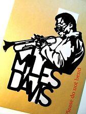 MILES DAVIS Original Pop Art,Music Celebrities 8 X 9½ inches Portrait Sticker
