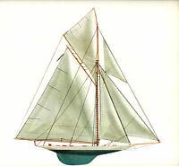 1895 Defender Americas Cup Keel Sloop Melbourne Smith Lithograph N G Herreshoff