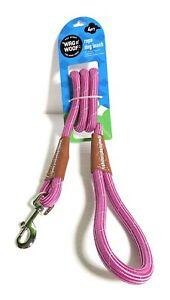WAG n' WOOF Rope Dog Leash 4 Ft Pink