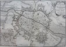 Plan de la ville et citadelle de TOURNAY en Flandre. A Paris chez Beaurin., 1730