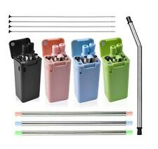 Collapsible Reusable Straw Stainless Final Travel Outdoor Drinking Portable