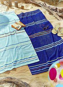 CATHERINE LANSFIELD Pair of Rainbow Beach Towel - Blue
