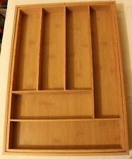 New listing Kitchen Expandable Wood Silverware Utilities Tray Holder
