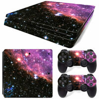 For PS4 SLIM SKIN PURPLE GALAXY Stickers Console Controllers Skin