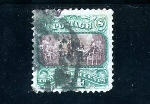 USAstamps Used VF US 1869 Pictorial Issue Scott 120 Repaired