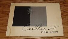Original 1935 Cadillac V-8 Full Line Deluxe Sales Brochure 35 Coupe Convertible