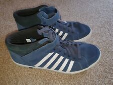 K-Swiss Trainers Size 10 High Tops Mens Shoes Adcourt 72 Mid Strap Navy Blue