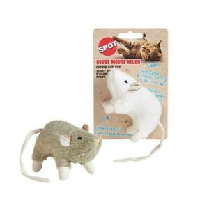 Spot House Mouse Helen Crinkle Catnip Cat Kitten Toy Plush Faux Fur Play Fun