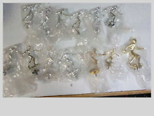 13 Vintage metal trophy toppers figures sports bowling