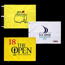 Jordan Spieth Unsigned Golf Flags 3 MAJORS Masters +U.S. Open +Open Championship