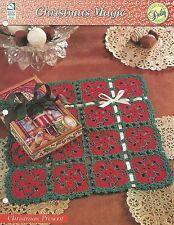 Christmas Present Doily Crochet Pattern - Christmas Magic HOWB Series Square