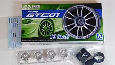 "Aoshima 1/24 ENKEI Racing GTC01  19"" Wheel Rims & Tire Set for Models 5380 (47)"