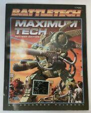 Battletech Maximum Tech Advanced Rulebook #1700 - Revised Edition