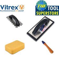 Vitrex Ceramic Tile Grouting Tiling Tool Kit Sponge Float Adhesive Trowel 4pc