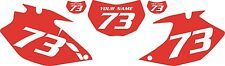 2007-2011 Yamaha WR450F Custom Pre-Printed Red Backgrounds with White Numbers