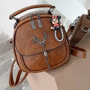 Small Leather Designer Backpack Ladies Shoulder Bag Casual Travel Luxury Bagpack