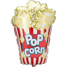 "XL 38"" Popcorn Mylar Foil Balloon Movie Night Circus Birthday Party"