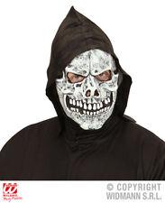 Máscara De Calavera Con Capucha esqueleto REAPER Fantasma Halloween Disfraz Accesorio
