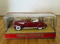 Matchbox Models of Yesteryear 1938 Lincoln Zephyr Convertible Diecast Car 1:43