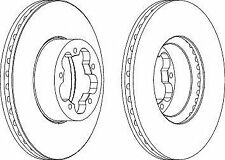Ferodo DDF1554C Brake Disc Set Vented Coated Front Axle Replaces 1371394
