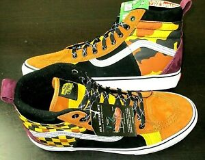Vans Mens Sk8-Hi 46 Mte Dx All Weather Boots Yellow Camo Checker Size 11 NWT
