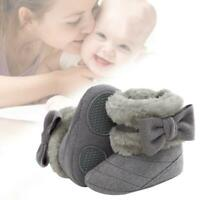 Newborn Toddler Baby Girls Snow Boots Winter Warm Fur Boots Soft Sole Crib Shoes