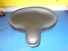 LARGE BLACK LEATHER SOLO SEAT HARLEY DAVIDSON 45 FLAT HEAD MODELS PN 52004-25L