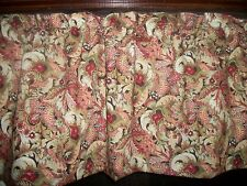 Paisley Flower diningroom bathroom bedroom fabric kitchen curtain topper Valance