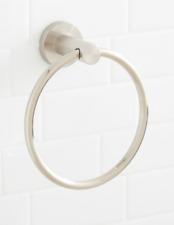 Signature Hardware, Brushed Nickel Towel Ring, 2212-BN Steffin