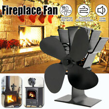 Wood Stove Fan Heat Activated Fireplace Thermally Controlled Warm Air Circulator