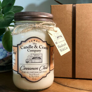 Cinnamon Chai, Soy Candle, Candle Gift, Highly Scented Candle, Free Shipping!