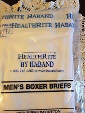 Men's Boxer Briefs Cotton Underwear HealthRite Nip Two Pair Size 42-44 Xl Soft