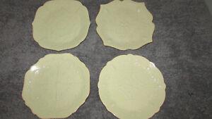 LENOX FRENCH PERLE DESSERT / BREAD PLATES SET/4 PISTACHIO NEW