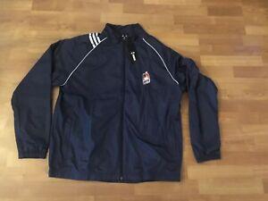 UIC Flames Adidas Golf Climaproof NAVY BLUE Windbreaker Jacket - Men's XL