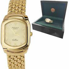 Rolex Cellini Geneve 24mm 18K Yellow Gold Champagne Roman Dial Quartz Watch 6631