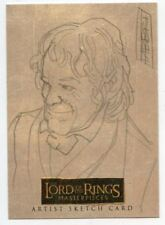 Lord of the Rings Masterpieces Sketch Card by Davide Fabbri Bilbo