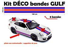 "8 bandes Gulf Racing style Stripe ""universel*"" Sticker bandes sans logo"